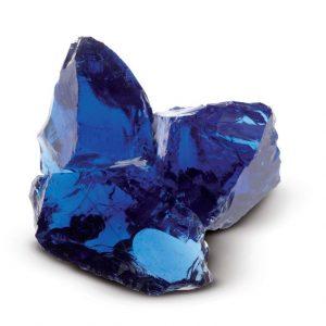 Aufnahme von PANNONIA Glasbrocken in blau