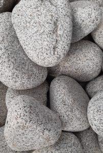 Granitstein, anthrazit-weiß