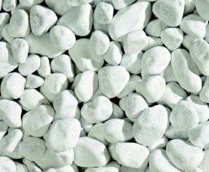 Marmorkiesel, carrara-weiß
