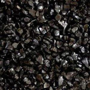 Nahaufnahme von PANNONIA Marmorsplitt 16-22 mm in ebano-schwarz