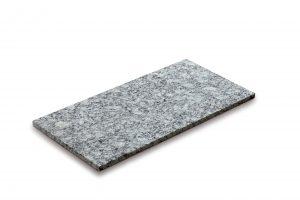 Steinplatte, Granit grau-meliert