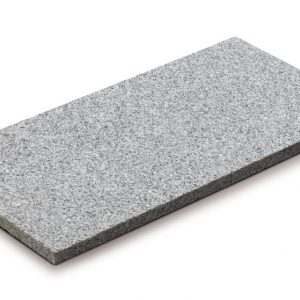 Aufnahme einer PANNONIA Granit Steinplatte in weiß