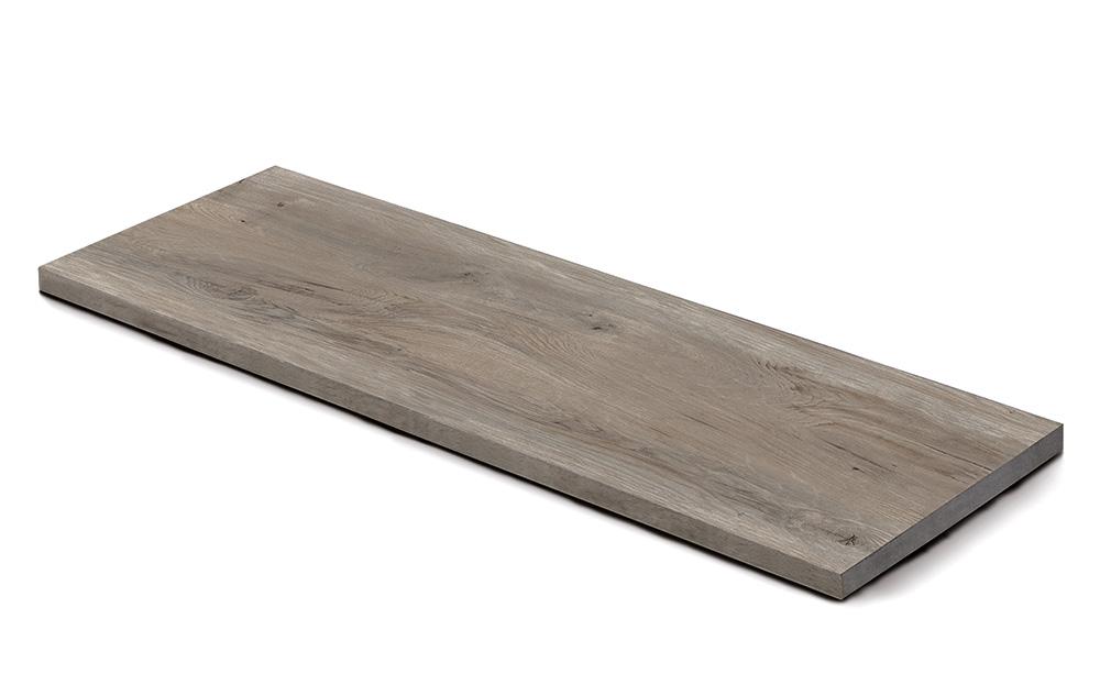 Steinplatte, Keramik Holzmaserung grigio