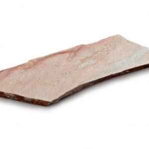 Aufnahme einer PANNONIA Quarz Steinplatte in rose-weiß