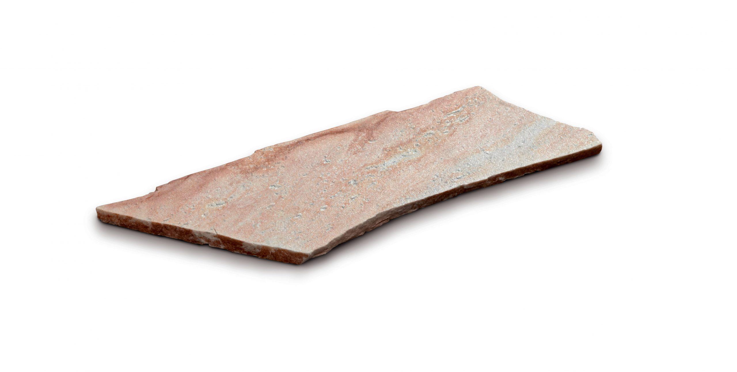 Steinplatte polygonal, quarz rosa
