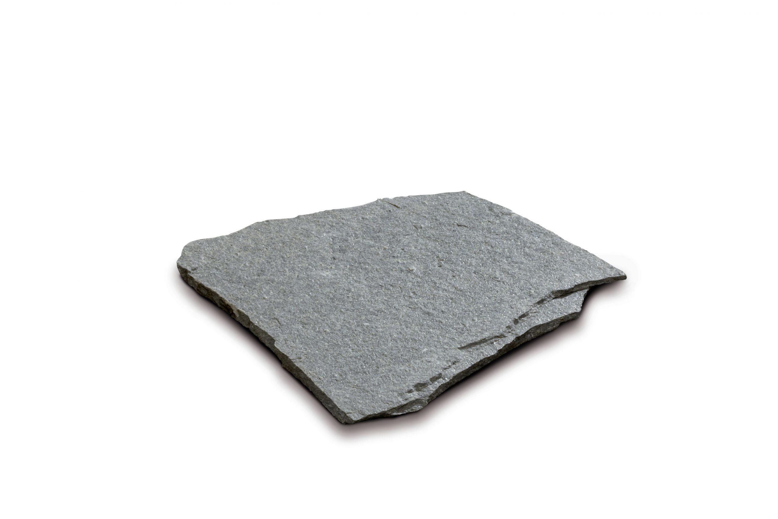 Steinplatte polygonal, quarz silber