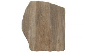 Steinplatte polygonal, holz-marrone