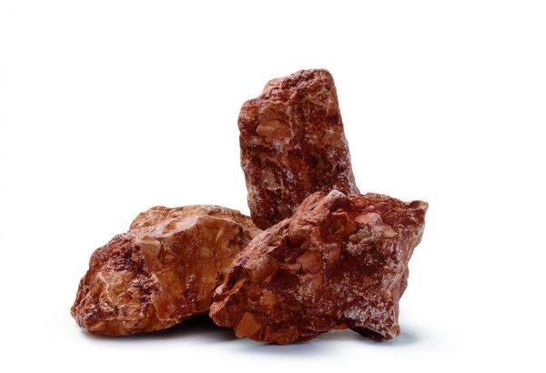 Aufnahme von PANNONIA Ziersteinen für Gabionen in verona-rot
